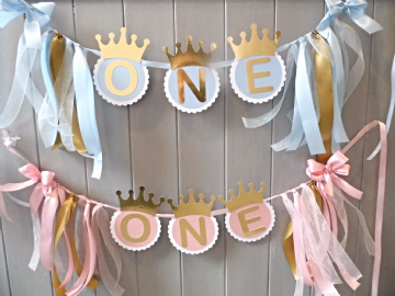 1st Birthday High Chair Banner
